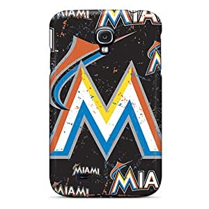Samsung Galaxy S4 BWT18029yfqD Support Personal Customs Trendy Miami Marlins Image Best Cell-phone Hard Covers -JohnPrimeauMaurice