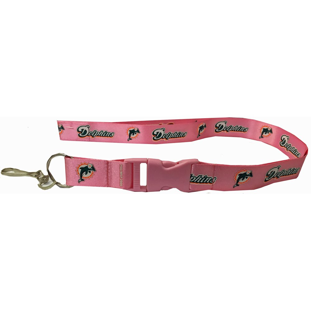 Lanyard - Velcro - NFL - Pink - Miami Dolphins