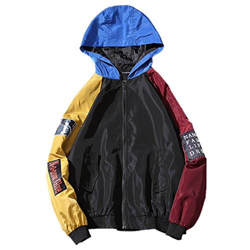 Fensajomon Mens Loose Autumn Winter Business Hoodie Thermal Plus Size Quilted Jacket Coat Outerwear