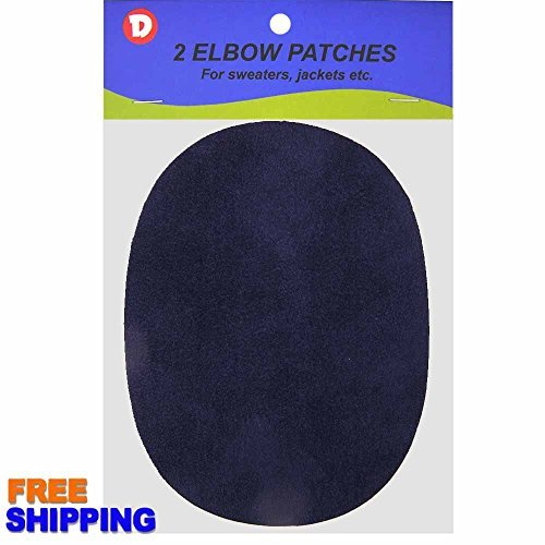 Faux - Suede Garment Iron-On Elbow Patches 4 1/2 x 5 1/2 in 2/Pkg - Navy