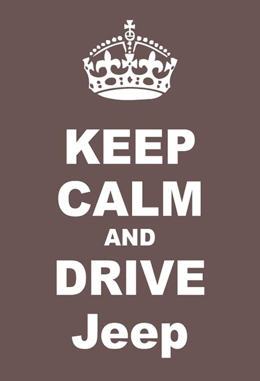 Keep Calm And Drive Jeep Targa di Latta Poster Metallo Scudo ad Arco Metallo Stagno Firmare 20 x 30 CM
