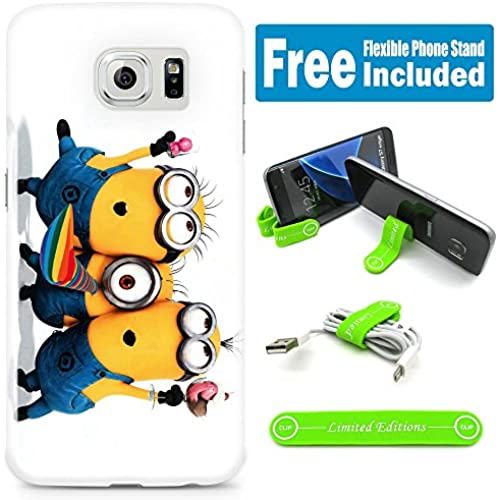 [Ashley Cases] TPU Skin Cover Case for Samsung Galaxy S7 with Flexible Phone Stand - Minions Party Sales