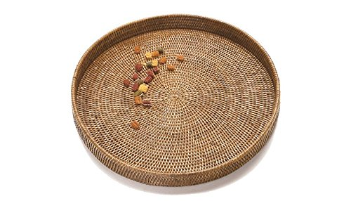 Artifacts Trading Company Rattan Large Round Tray 19