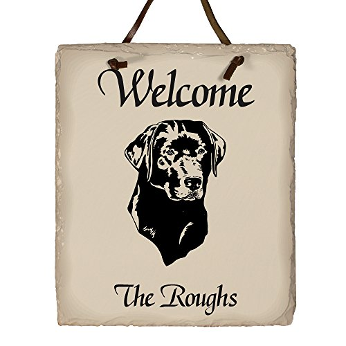 GiftsForYouNow Welcome Dog Breed Personalized Slate Plaque, Labrador Retriever