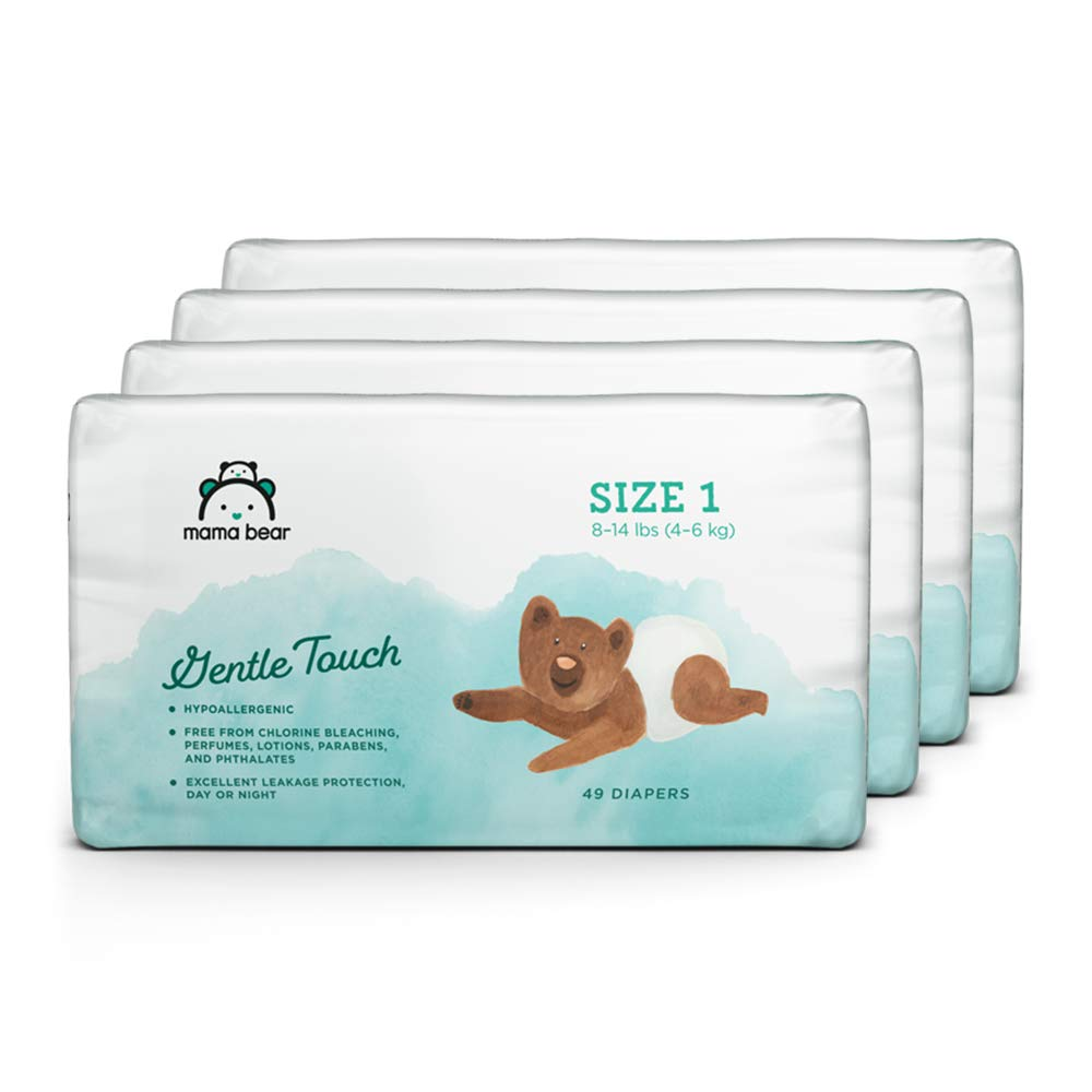 Size 3 168 Count 4 packs of 42 Brand Assorted Print Mama Bear Gentle Touch Diapers