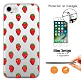 "c01113 - Cool Red Strawberries Wallpaper Wimbledon Summer Fruit Design iphone 6 6S 4.7"" CASE Ultra Slim Light Plastic 0.3MM All Edges Protection Case Cover-Clear"