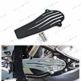 XKMT Group Black Iron Plate Drive Shaft Cover For Yamaha V-Star 650 1100 Classic Custom 120mm