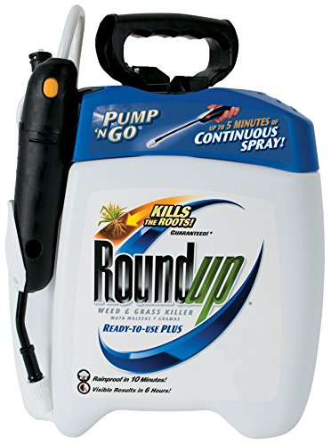 (Roundup 5100110 Weed and Grass Killer III Ready-to-Use Pump 'N Go Sprayer, 1.33 Gallon)