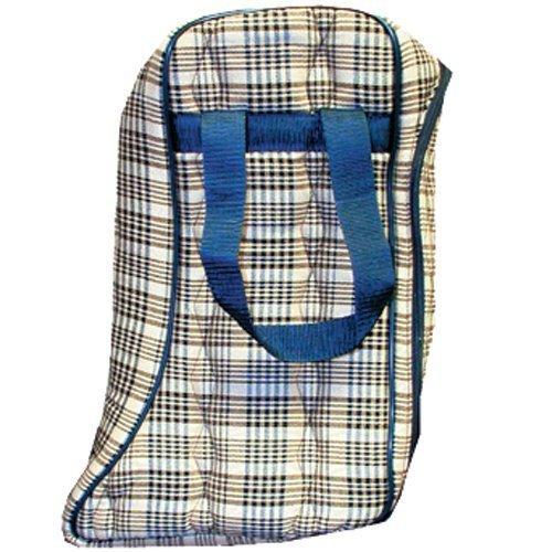 High Spirit Lined English Boot Bag, Horsemans Plaid by High Spirit
