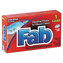 Fab VEN 035690 Dispenser-Design HE Laundry Powder Detergent, Ocean Breeze, 1oz. Box  (Pack of 156)