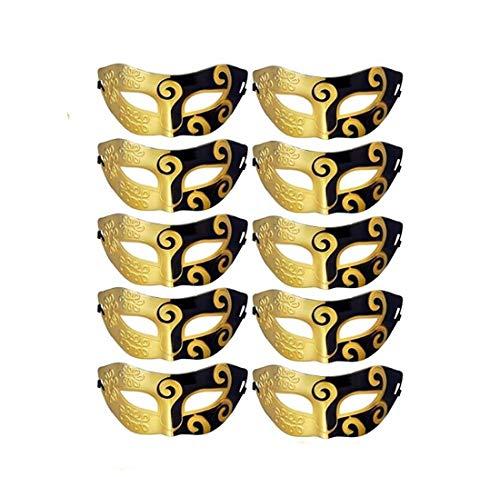 Ru S 10pcs Set Mardi Gras Half Masquerades Venetian Masks Costumes Party Accessory ()