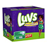 Health & Personal Care : Luvs With Ultra Leakguards Big Pack Size 6 Diapers 66 Count
