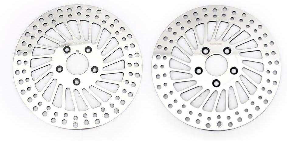 TARAZON 2x Lucidato Anteriore E Posteriore Dischi Freno set per Softail Heritage Fat Boy Dyna 1340 FXDB//Sportster 883 1000 1100 1200