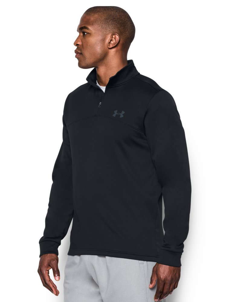 Under Armour Men's Storm Armour Fleece 1/4 Zip, Black (001)/Graphite, Small by Under Armour (Image #2)