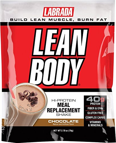Lean Body MRP All-In-One Chocolate Meal Replacement Shake, 40g Protein, Whey Blend, 8g Healthy Fats EFA's & Fiber, 22 Vitamins and Minerals , No artificial color, Gluten Free, (1 Packet)