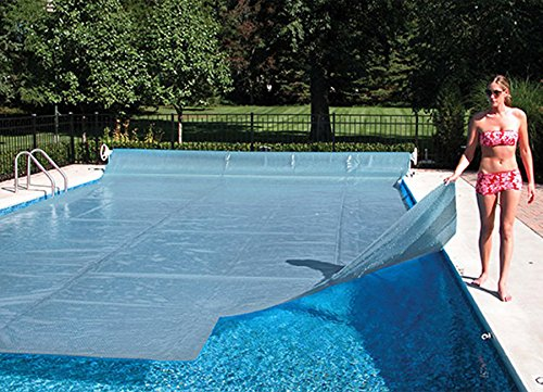14' x 28' Rectangle Crystal Clear Swimming Pool Solar Heating Cover Blanket-16 Mil With 6 pack Quick Drain Grommet System