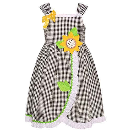 Bonnie Jean Girls Gingham Seersucker Dress Size 4T - Gingham Jeans Bonnie Jean