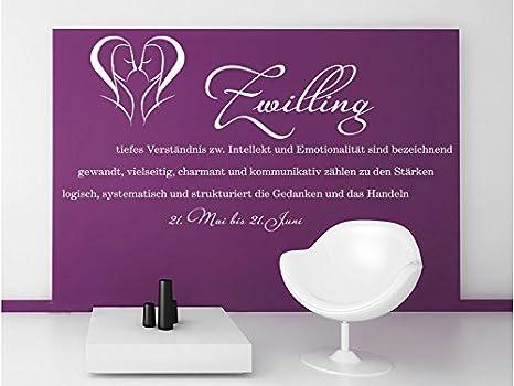 Pared Adhesivo Zwilling como signo, gris claro, 120 x 60 cm: Amazon.es: Hogar