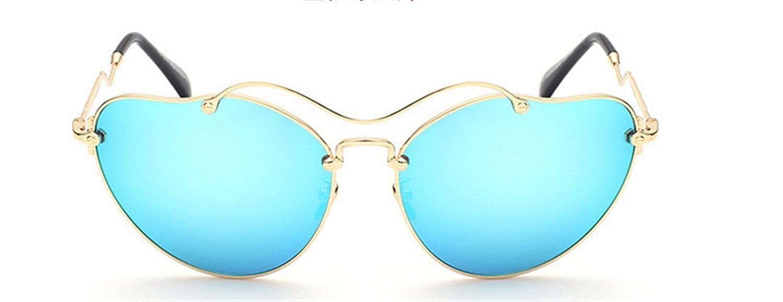 HYP Herren und Damen Sonnenbrille Polarisiert Unisex Brille Überbrille für Brillenträger Fit-over Polbrille Metall-frame Brille Sonnenbrille, wellig Goldene Box - blau