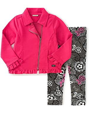 Baby Girls' French Terry Jacket with Leggings Set