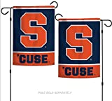 WinCraft NCAA Syracuse University Orange 12.5'' x 18'' Inch 2-Sided Garden Flag Logo