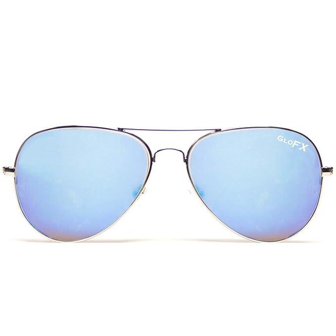 4682d2223b568 Amazon.com  GloFX Metal Pilot Aviator Style Diffraction Glasses ...