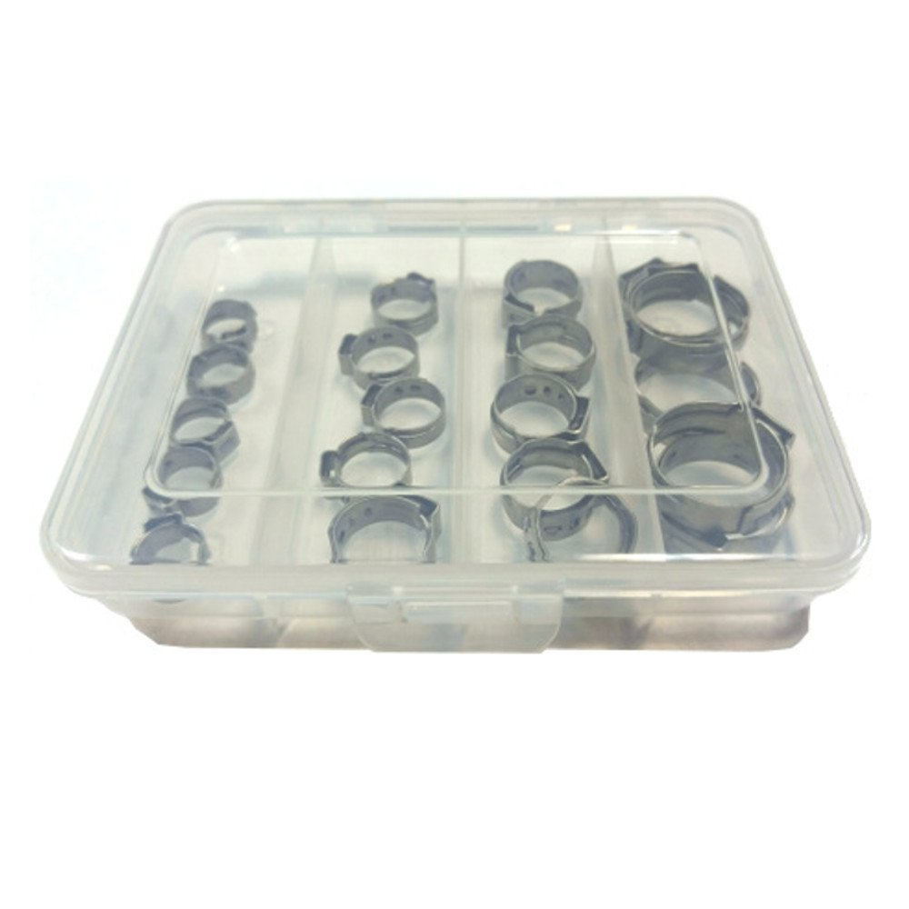400 Piece Single Ear Hose Clamp Without Pincers Oetiker Stepless OET087170-400PCK Clamp Assortment Case 11//32-11//16