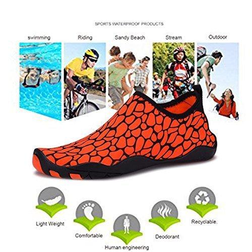 Demango Yoga Schoenen Barefoot Sneldrogend Watersport Aqua Schoenen Zwemmen Wandelen Meer Strand Oranger