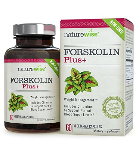 NatureWise Forskolin Plus+, Weight Loss and Healthy Blood Sugar Support, Coleus Forskohlii Supplement, 250 mg, 60 count
