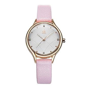 SW Watches Relojes De Mujer De Moda Mejor Marca Reloj De Lujo Ultra Fino Reloj De Pulsera De Cuarzo para Mujer Reloj Mujer SK,Pink: Amazon.es: Deportes y ...