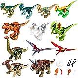 YYKMEI Dinosaurs Set,(12+9) Building Blocks Dinosaur Toys,GreatGift Party