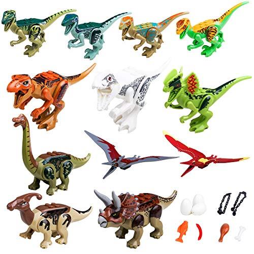 YYKMEI Dinosaurs Set,(12+9) Building Blocks Dinosaur Toys,GreatGift Party by YYKMEI