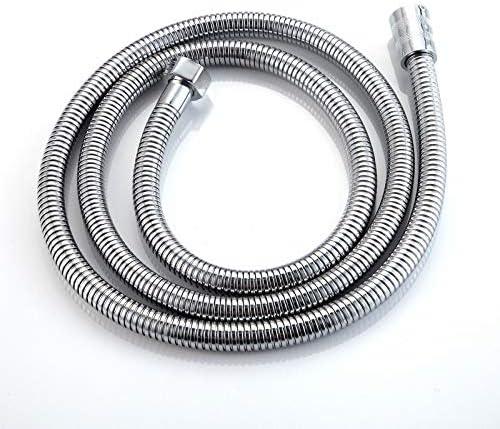 WHZJXB-ZYP 1.5メートルのステンレススチールシルバーシャワーホース浴室柔軟な水管パイプ配管ホース1/2「」お風呂シャワーヘッドパイプアクセサリー