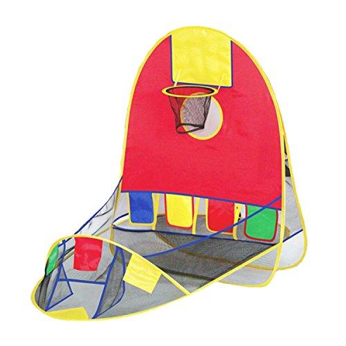 記事散文財団LIAN 子供の遊びテント屋内と屋外のバスケットテントの折りたたみゲームハウスのパズルのおもちゃの家を撮影
