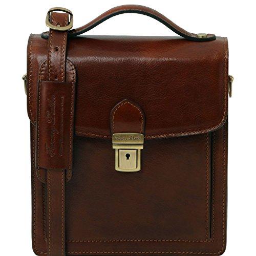 Tuscany Leather David Borsello in pelle a tracolla - Misura piccola Marrone