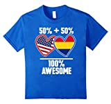 50% American 50% Romanian 100% Awesome Funny Flag T-Shirt