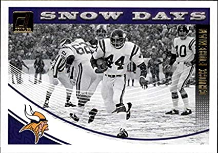 low priced 006b5 2a7e4 Amazon.com: 2018 Donruss Snow Days #20 Chuck Foreman Vikings ...