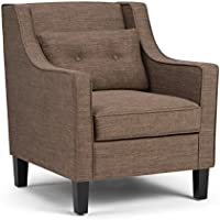 Simpli Home Ashland Club Chair, Fawn Brown