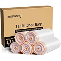 Meidong 13 Gallon Trash Large Kicthen Garbage Bags (115 Count)