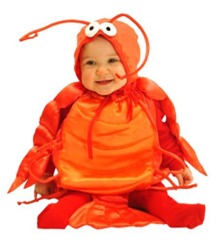 Mullins Square Lobster Baby Costume, Red, 6-18 (Lobster Costume Halloween)