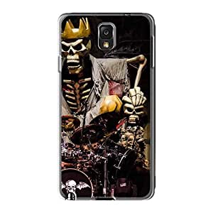 Shock Absorption Cell-phone Hard Covers For Samsung Galaxy Note3 With Customized Realistic Avenged Sevenfold Image VIVIENRowland