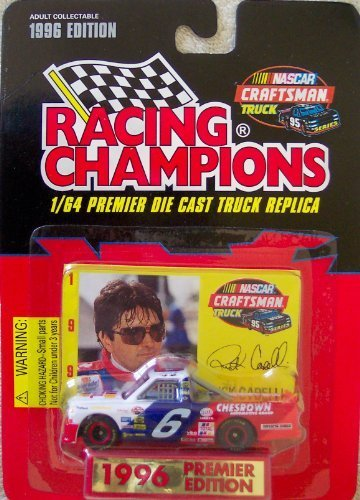 1996 Premier Edition Racing Champions Rick Carelli #6 Truck Die Cast 1/64 Scale w/Collector Card and Display Stand by Racing Champions