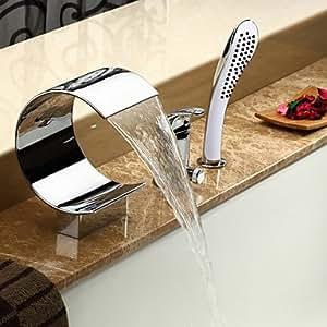 zeitgen?ssische cascada bañera grifo con ducha de mano–acabado cromado