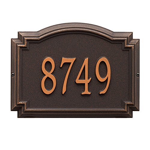 (Whitehall Williamsburg Standard Wall Plaque (One Line, Rubbed)