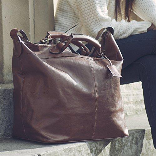 Borsa da viaggio di lusso marrone chiaro (Fabrizo)