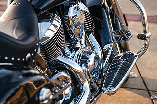 Kuryakyn 5650 Motorcycle Foot Control Component: Spear Driver Floorboard Inserts for 2014-19 Indian Motorcycles, Chrome, 1 Pair
