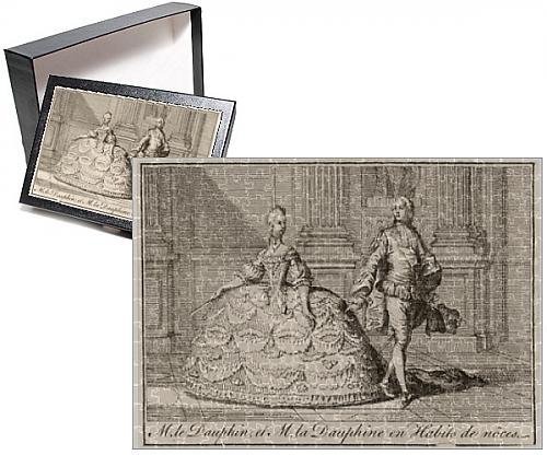 Costume De Louis 14 (Photo Jigsaw Puzzle of Louis XVI and Marie Antoinette in wedding costumes)