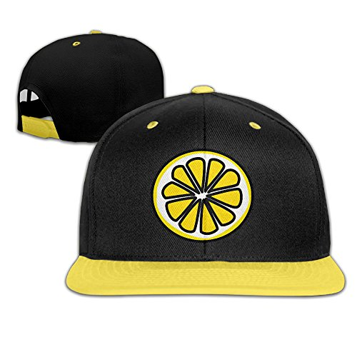 unisex-adjustable-snapback-lemonade-clip-art-trucker-hats-yellow-one-size