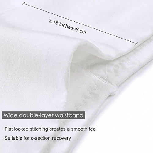 6dd998b96511 wirarpa Womens Cotton Underwear White 4 Pack High Waisted Briefs Postpartum  No Muffin Top Ladies Stretch