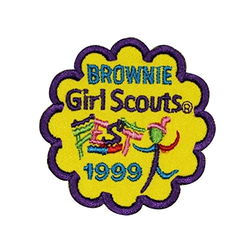 Girl Scouts Brownie 1999 Patch Cookies Sash Badge Embroidered Sew On Applique by Mia_you